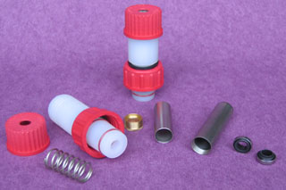 PTFE mixing parts for industrial and lab glassware