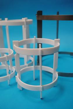 PTFE mixing parts for glassware equipments