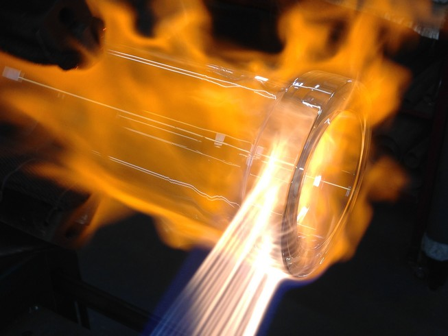 Soufflage de verre laboratoire