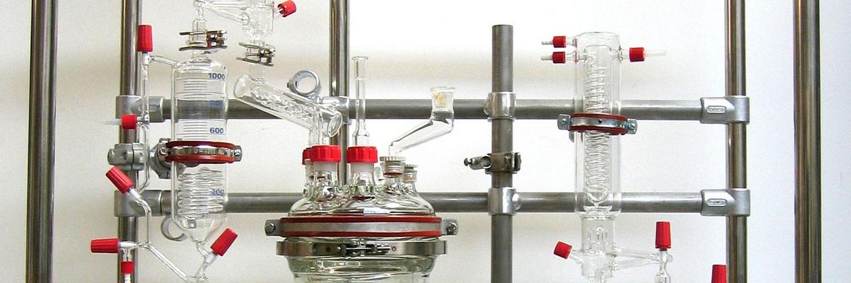 montage chassis support reacteur verre equipements soufflage de verre