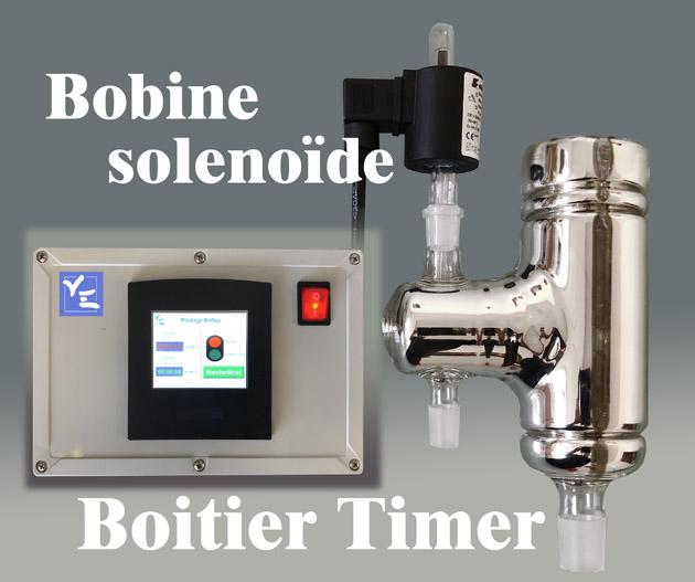 Bobine timer boitier de contrôle, solénoïde pour distillation