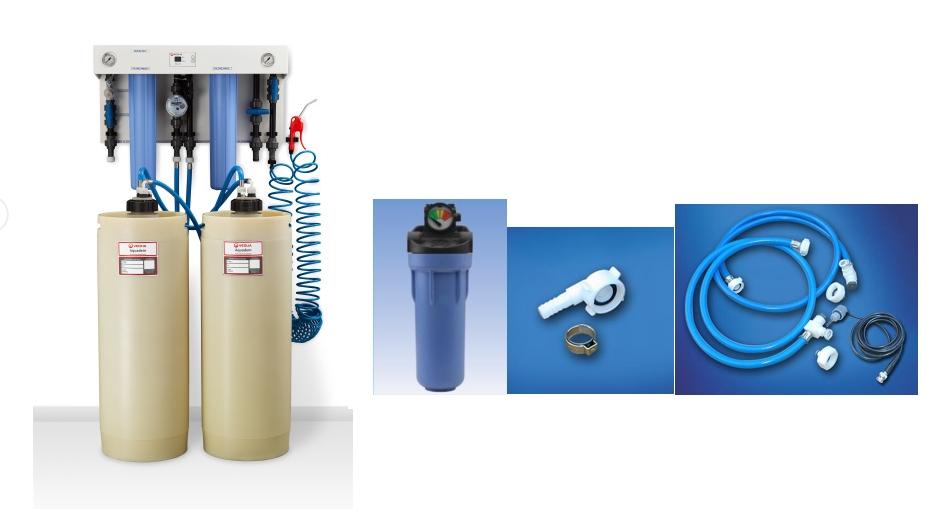 régénération de cartouches d'eau déminéralisée