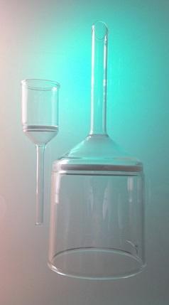 Entonnoir filtrant verre, Entonnoir conique borosilicate