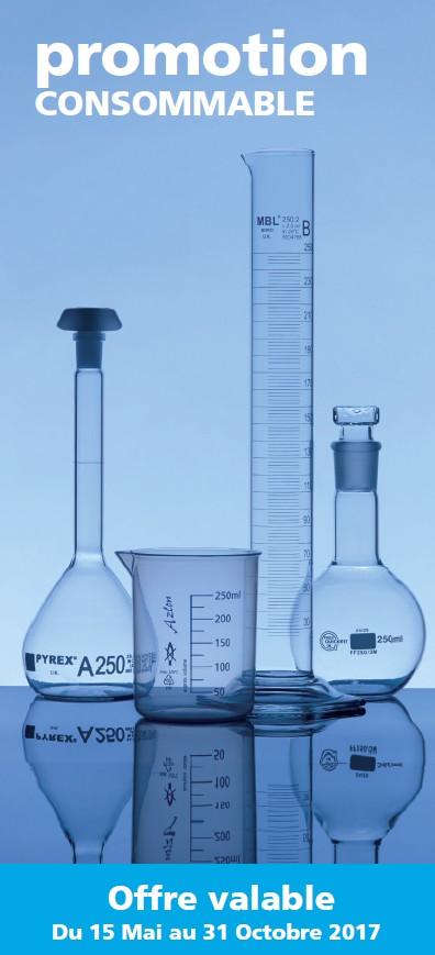 Promotion verre-equipements laboratoires borosilicate