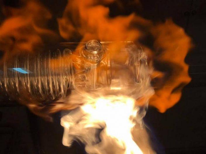 corps de condenseur en verre