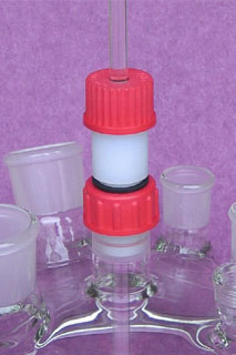 guide agitation teflon verre equipements soufflage de verre
