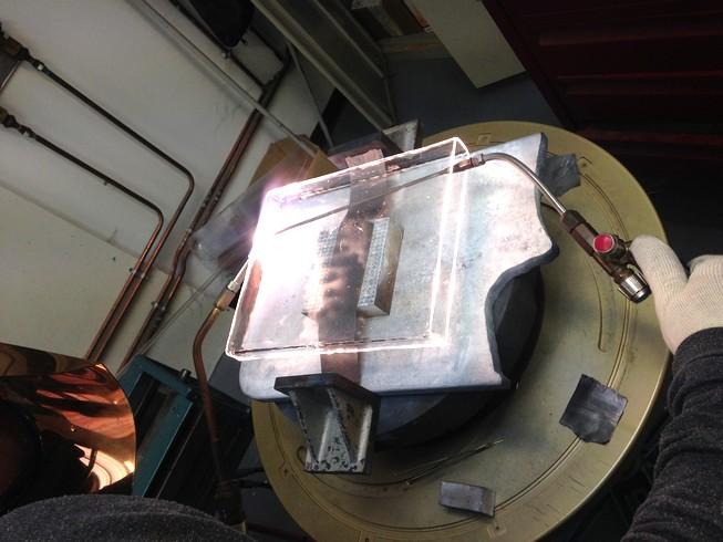 Soufflage de verre quartz
