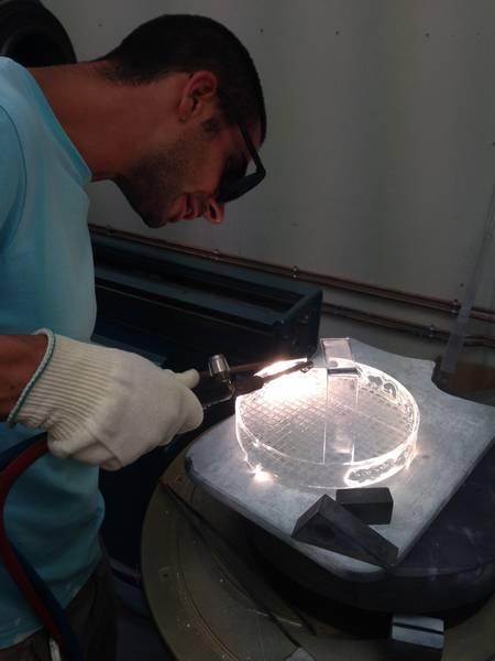 soufflage verre quartz industrie, verrerie labo